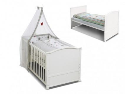 Babybett Kinderbett Fanny - Weiß