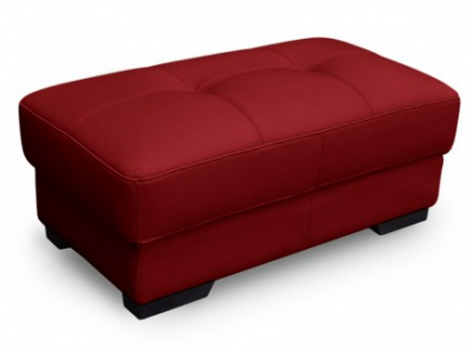 Sitzhocker Leder Metropolitan II - Rot