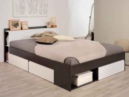 einzelbett mit stauraum, parisot bett mit stauraum most - verstellbar 160x200cm - braun, Design ideen