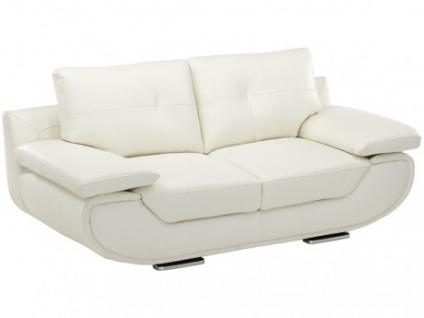 Ledersofa 2-Sitzer Orgullosa - Standardleder - Weiß