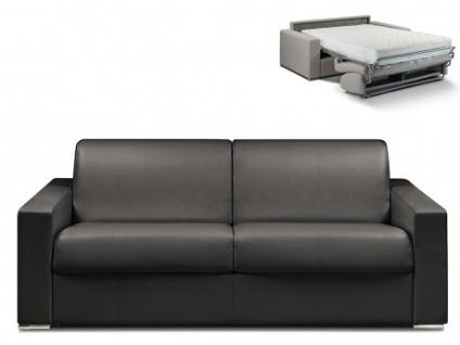 Schlafsofa 4-Sitzer CALITO - Schwarz - Liegefläche: 160 cm - Matratzenhöhe: 22cm