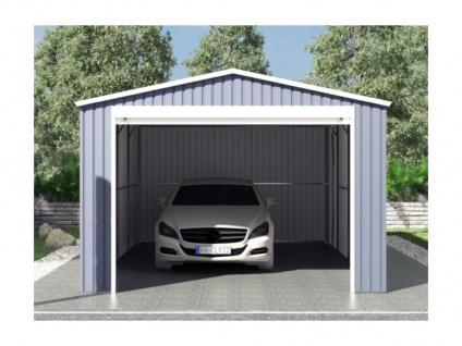 Garage mit Rolltor OCTOU - Stahl - Grau - 19, 5 m² - Vorschau 2