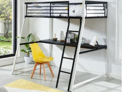 Hochbett mit Schreibtisch MALICIA - 90x190cm