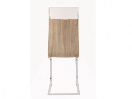 Stuhl 4er-Set AYANE - Eichenholzfarben/Weiß - Vorschau 4