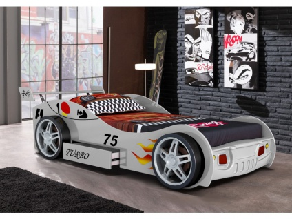 Kinderbett Spielbett RUNNER + Lattenrost - 90x200 cm - Weiß