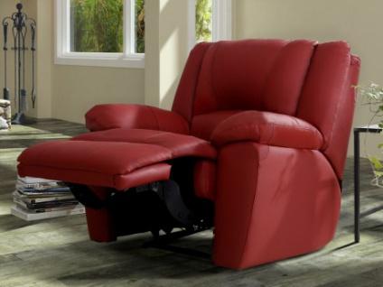 Relaxsessel Fernsehsessel Leder Aroma - Rot