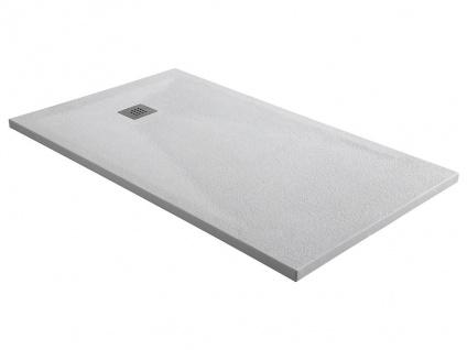 Duschwanne mit Siphon MIRNOS - 1400x900x35 mm - Weiß
