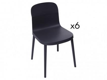 Stuhl 6er-Set SONATINE - Grau