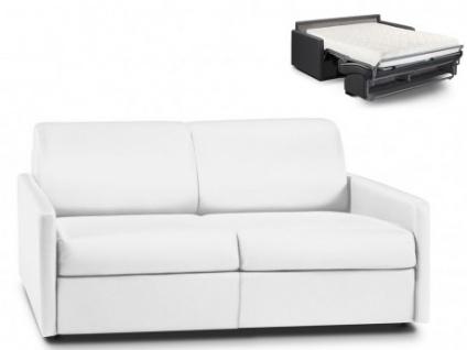 Schlafsofa 3-Sitzer CALIFE - Weiß - Liegefläche: 140 cm - Matratzenhöhe: 18cm