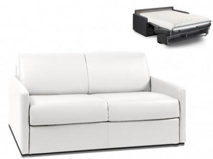 Schlafsofa 2-Sitzer CALIFE - Weiß - Liegefläche: 120 cm - Matratzenhöhe: 18cm