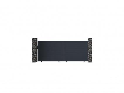 Gartentor Schiebetor NAZARIO - Aluminium - B392 x H158 cm