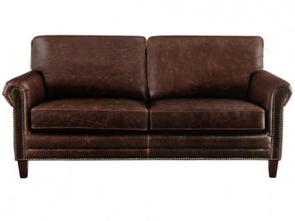 Ledersofa Vintage 2-Sitzer CASSANDRA - Braun