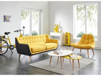Lounge-Sessel Stoff Kribi - Gelb - Vorschau 2