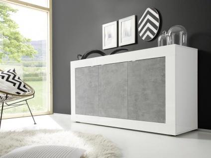 Sideboard COMETE - Weiß lackiert & Betonfarben - Vorschau 3