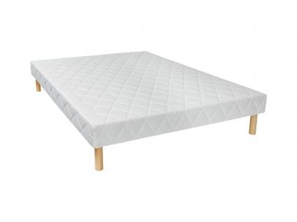 Bettgestell mit Lattenrost PANACEA - Weiß - 140x190 cm