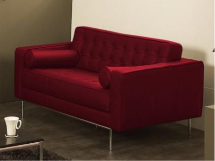 Ledersofa 2-Sitzer Vittoria - Standardleder - Rot