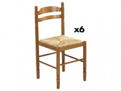 Stuhl 6er-Set Massivholz Jeanne