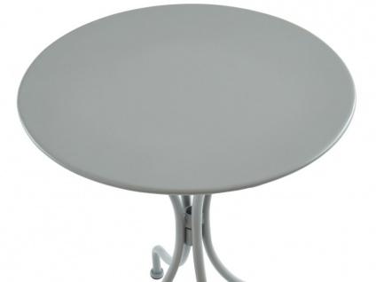 Garten Essgruppe Metall MIRMANDE - Tisch D. 60 cm & 2 Stühle - Grau - Vorschau 4