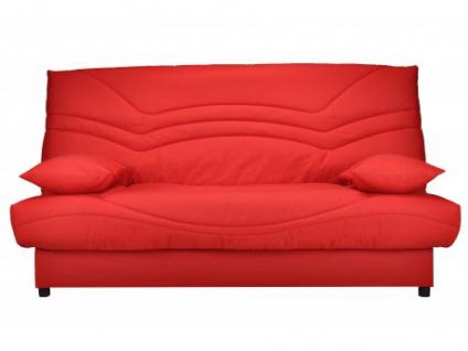Schlafsofa Klappsofa mit Bettkasten Saloon - Rot