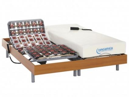 Matratzen elektrischer Lattenrost 2er-Set mit Okin-Motor Hesiode III - Kirschholzfarben - 2x80x200