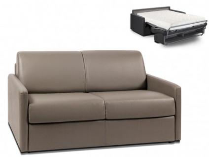 Schlafsofa 2-Sitzer CALIFE - Taupe - Liegefläche: 120 cm - Matratzenhöhe: 18cm
