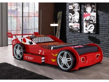 Kinderbett Spielbett RUNNER + Lattenrost - 90x200 cm - Rot
