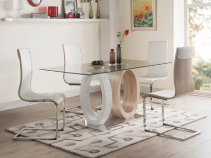 Essgruppe AYANE: Esstisch & 4 Stühle