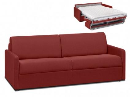 Schlafsofa 4-Sitzer Stoff CALIFE - Rot - Liegefläche: 160 cm - Matratzenhöhe: 14cm