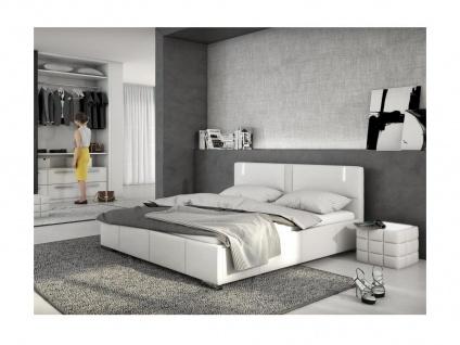 LED Polsterbett Soren - Weiß - 160x200cm