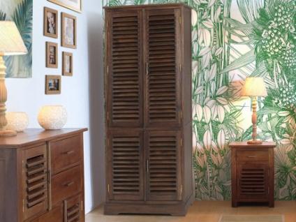 Kleiderschrank Massivholz Bali II - 4 Türen