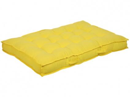 Palettenauflage Sitzkissen BAILA - 80x120x15cm - Gelb