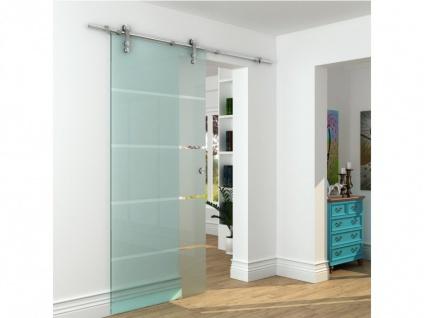 Glasschiebetür Stahl GLASSY - H 205 x B 93 cm