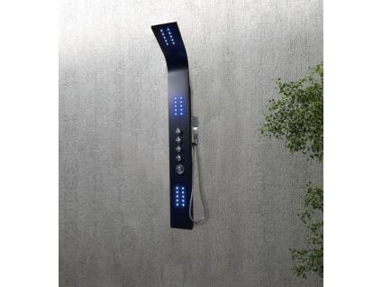 Massage Duschsäule LED Felicita - Schwarz