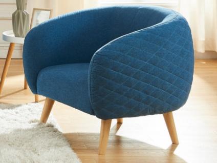 Sessel Stoff PENNY - Blau