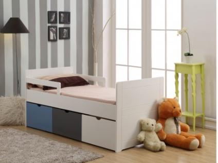 Kinderbett mit Schubladen PILOU + Lattenrost - 90x190cm - Blau