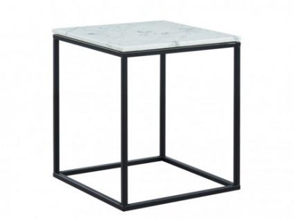 Beistelltisch Design Marmor & Metall ARETHA - Schwarz/Weiß