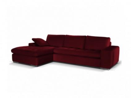 Ledersofa Ecksofa Elegancia - Luxusleder - Rot - Sofaecke Links