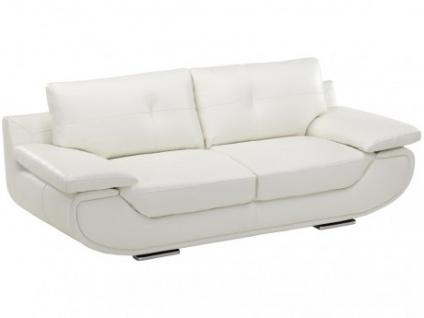 Ledersofa 3-Sitzer Orgullosa- Luxusleder - Weiß - Vorschau 1