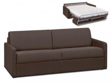 Schlafsofa 4-Sitzer Stoff CALIFE - Braun - Liegefläche: 160 cm - Matratzenhöhe: 14cm