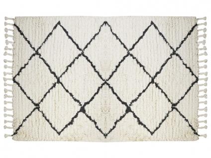 Teppich MARCUS - 100% Baumwolle - 200x290 cm