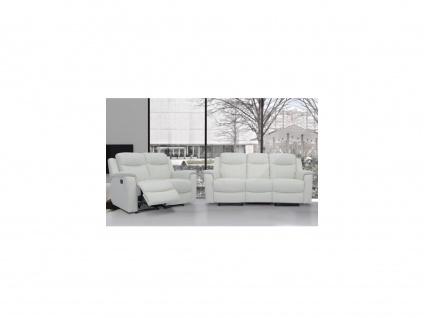 Ledergarnitur Relax Evasion 3+2 - Elfenbein-Weiß