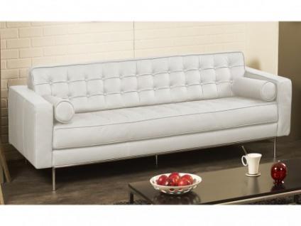 Ledersofa 3-Sitzer Vittoria - Luxusleder - Weiß