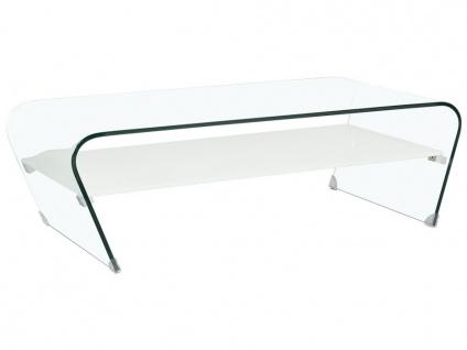 Couchtisch Glas Design KELLY - Weiß - Vorschau 3