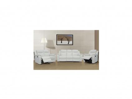 Ledergarnitur Relax Evasion 3+2+1 - Elfenbein-Weiß