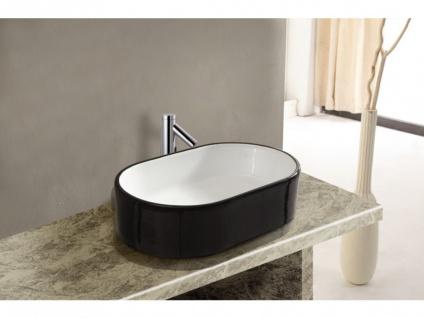 Waschbecken Keramik IWA - Schwarz/Weiß