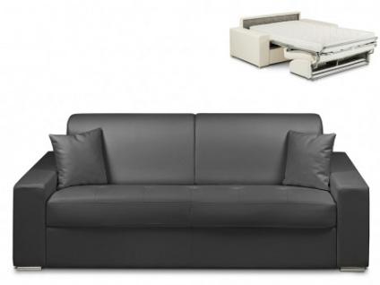 Schlafsofa 4-Sitzer EMIR - Schwarz - Liegefläche: 160cm - Matratzenhöhe: 14cm