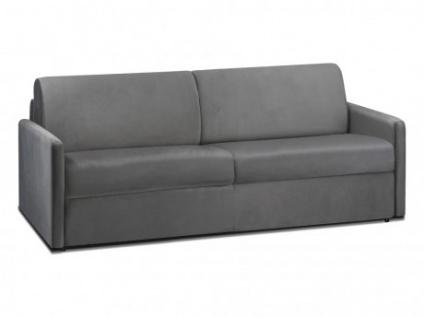 Schlafsofa 4-Sitzer Samt CALIFE - Anthrazit - Liegefläche: 160 cm - Matratzenhöhe: 22cm