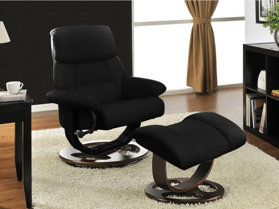 relaxsessel fernsehsessel leder myosotis fu hocker schwarz kaufen bei kauf. Black Bedroom Furniture Sets. Home Design Ideas