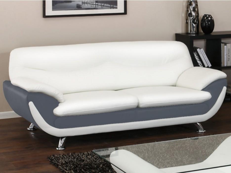 3-Sitzer-Sofa Indiz - Grau & Weiß - Kaufen bei Kauf-Unique.de