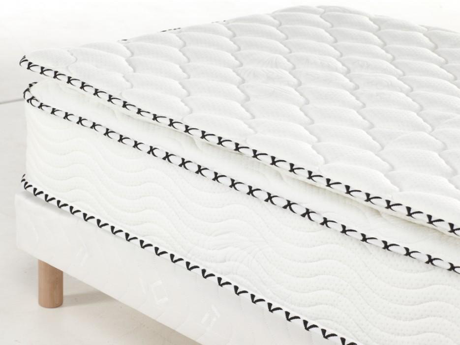 taschenfederkernmatratze lattenrost set mit topper altier 80x200cm kaufen bei kauf. Black Bedroom Furniture Sets. Home Design Ideas